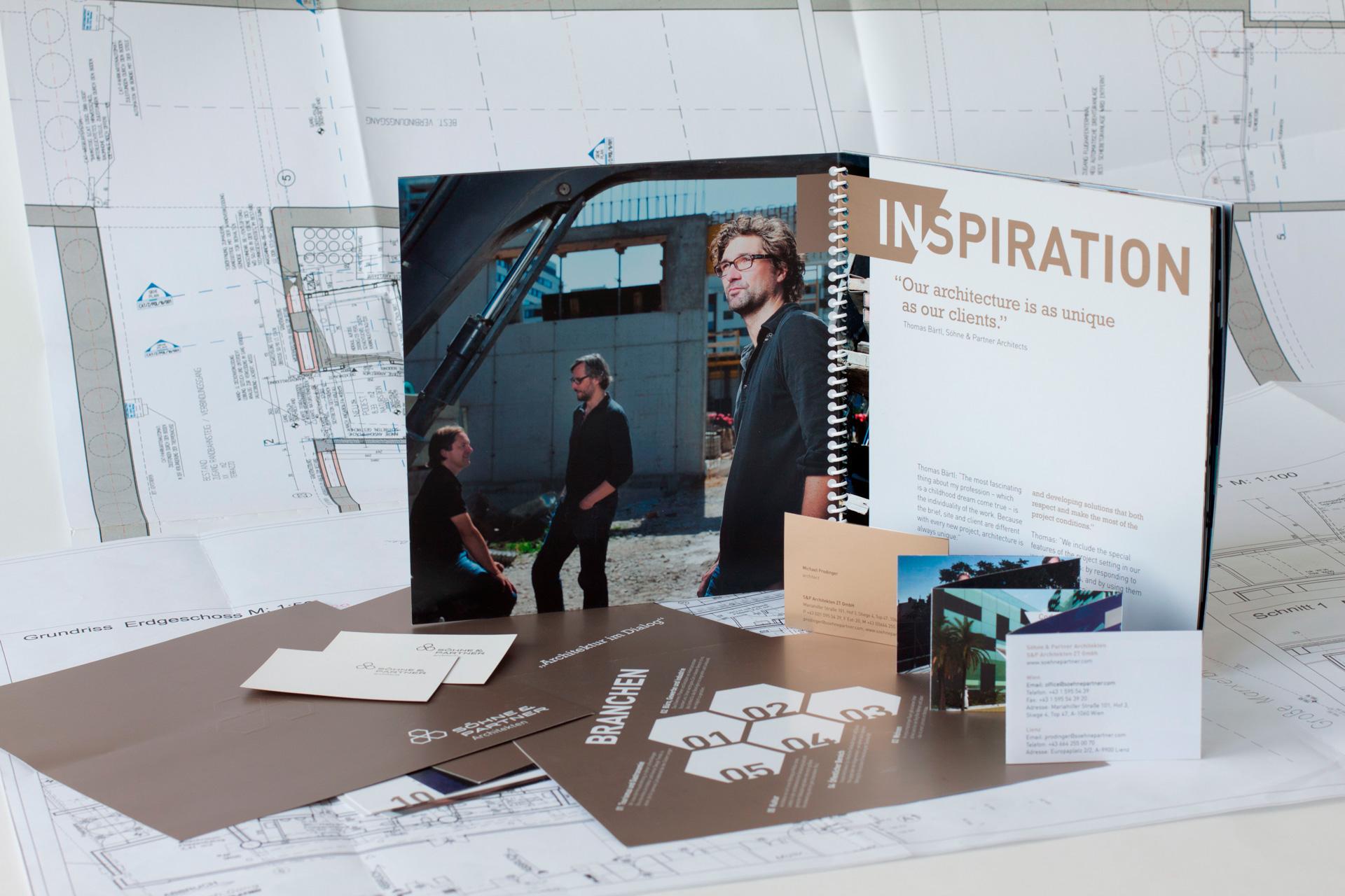 Geschäftsunterlagen der Architekten Söhne & Partner